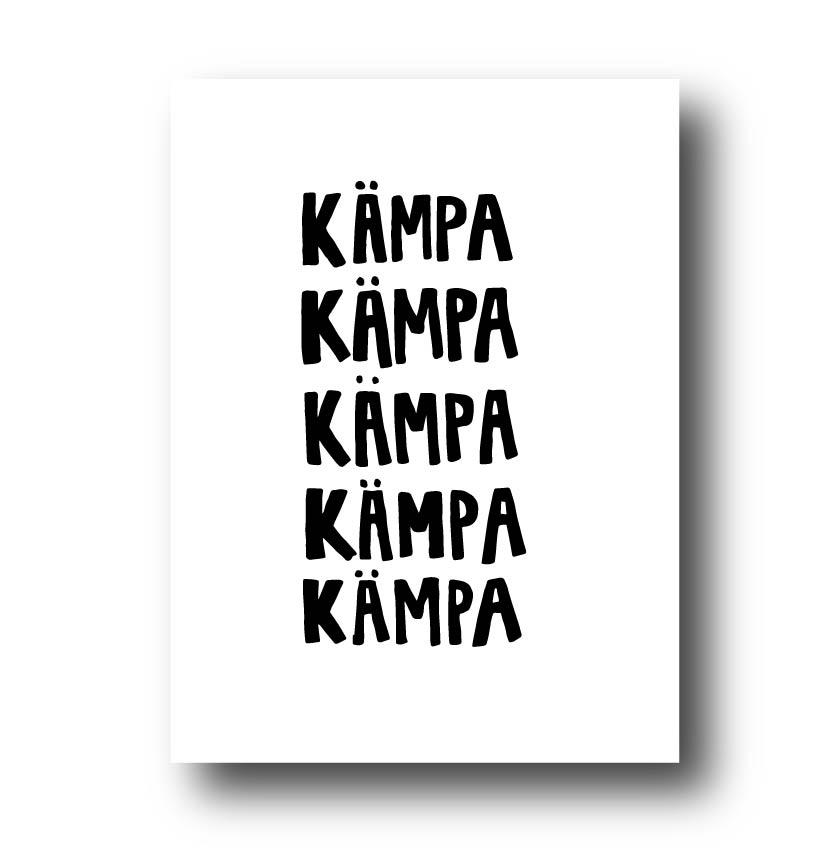 Poster - Kämpa
