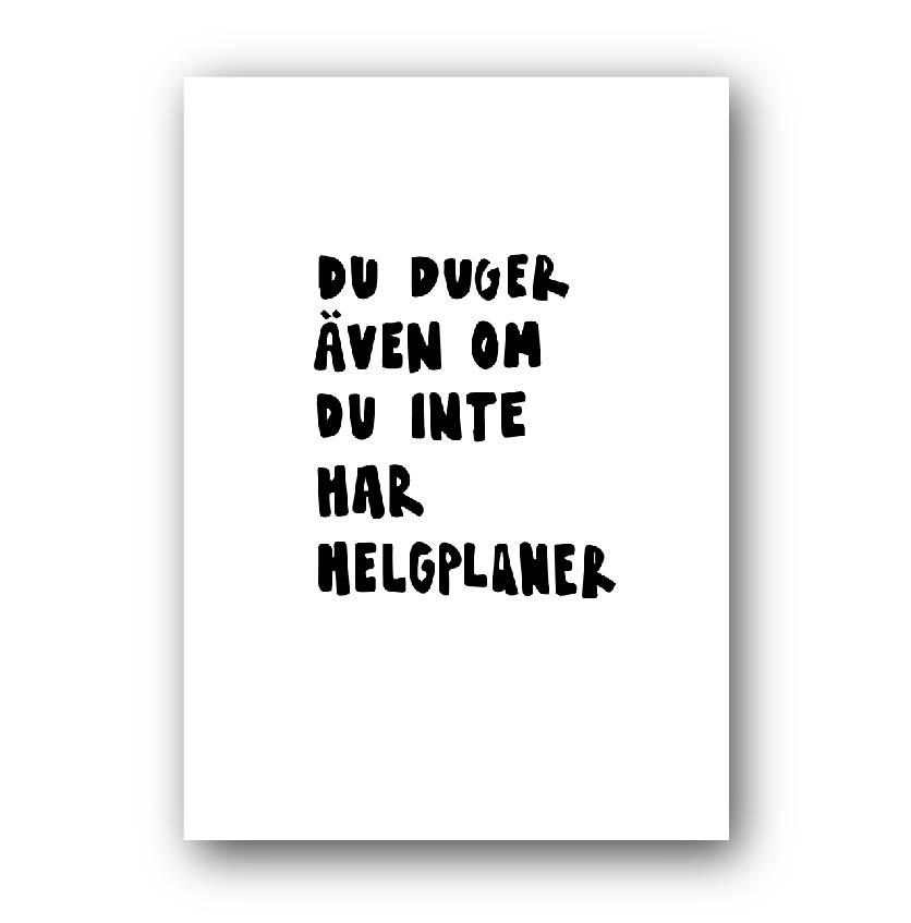 Poster - Helgplaner
