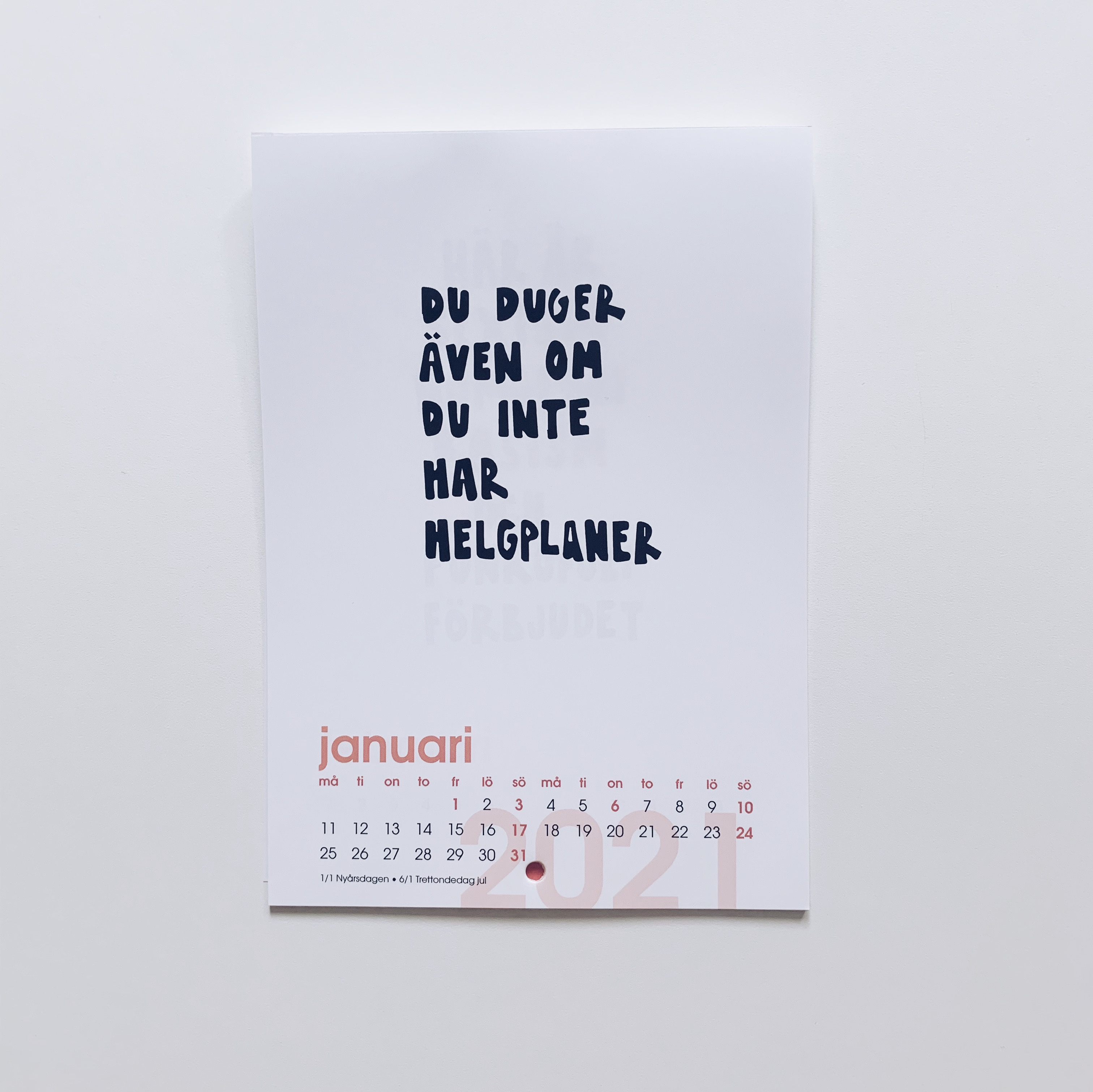 Väggkalender 2021